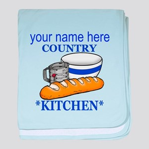 Vintage Country Kitchen baby blanket