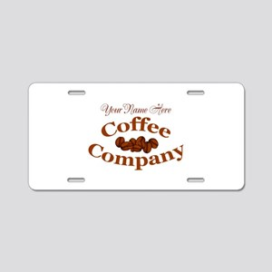 Vintage Coffee Company Aluminum License Plate