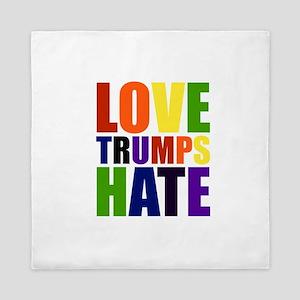 Love Trumps Hate Queen Duvet