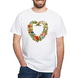 Botanical Mens Classic White T-Shirts