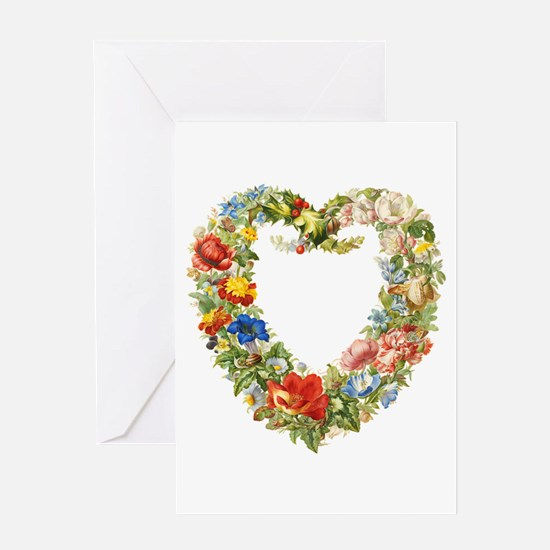 Floral Wreath Greeting Cards