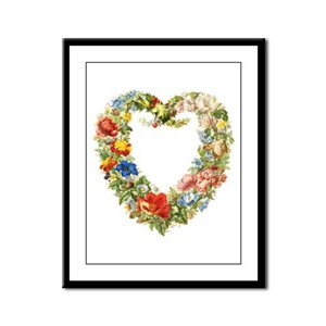Floral Wreath Framed Panel Print