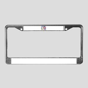 Snowmen License Plate Frame