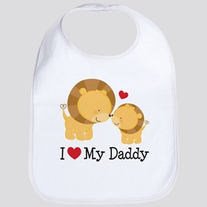 I Heart My Daddy Baby Bib
