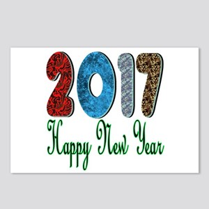 2017 Happy New Year Postcards (package Of 8)