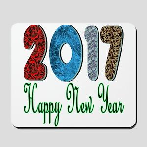 2017 Happy New Year Mousepad