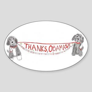 Thanks, Obamas! Sticker