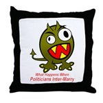 Child of Politics Throw Pillow