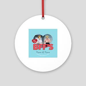 BFFs Personalized Round Ornament