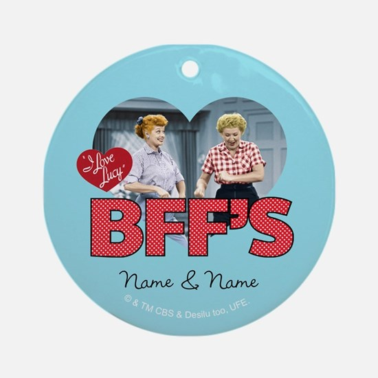 BFFs Personalized Round Ornament