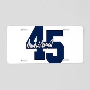 President Trump 45 - Donald Trump Aluminum License