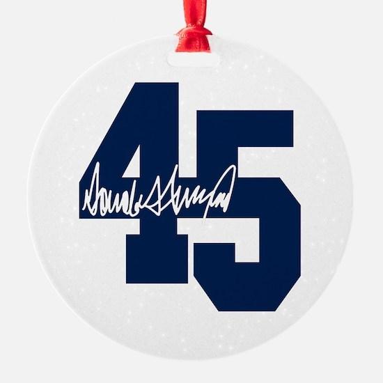 President Trump 45 - Donald Trump Ornament