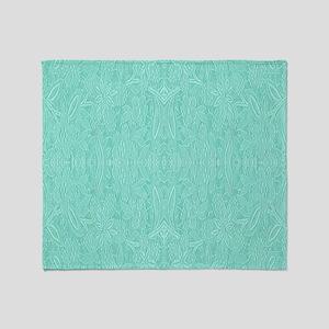 Mint Green Print Throw Blanket