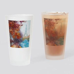 Paris Painting Drinking Glass