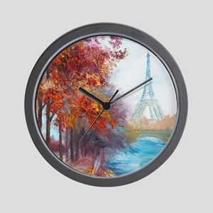 Paris Painting Wall Clock