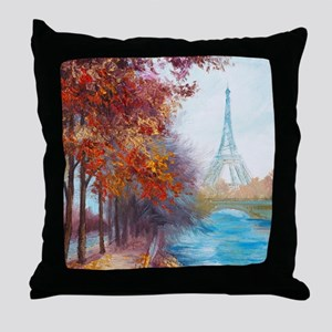 Paris Painting Throw Pillow