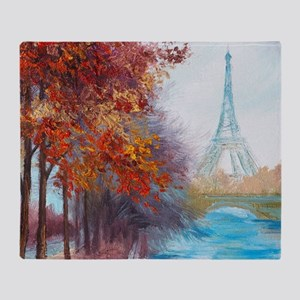 Paris Painting Throw Blanket
