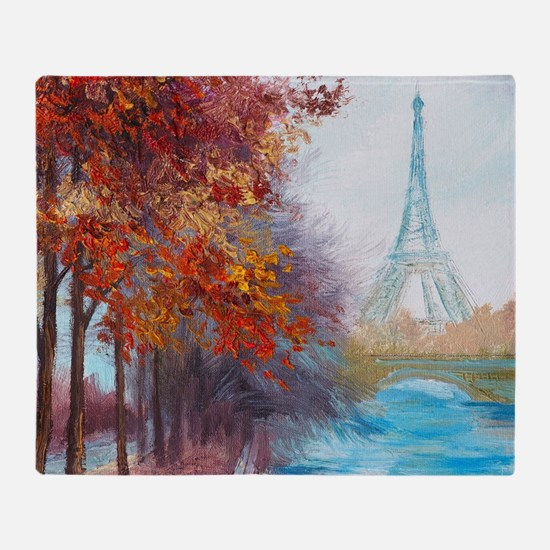 Paris Painting Throw Blanket