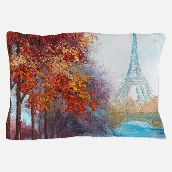 Paris Painting Pillow Case