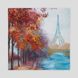 Paris Painting Queen Duvet