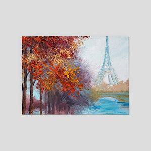 Paris Painting 5'x7'Area Rug