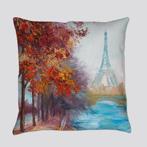 Paris Painting Everyday Pillow