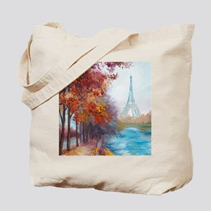 Paris Painting Tote Bag