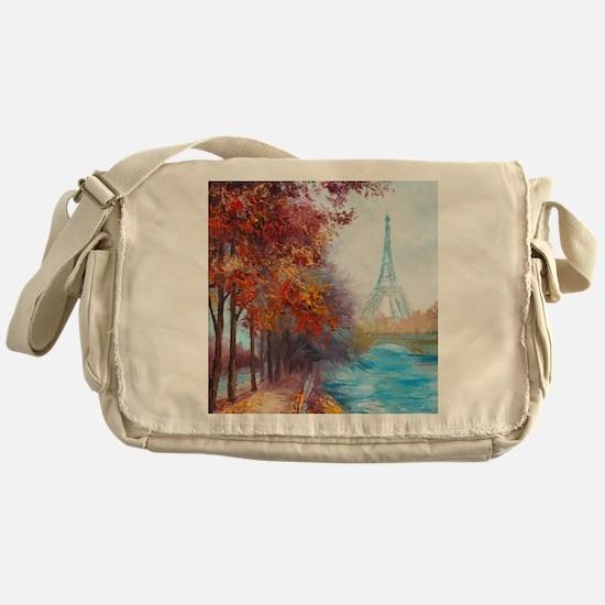 Paris Painting Messenger Bag
