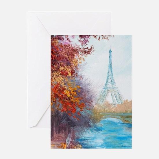 Paris Painting Greeting Card