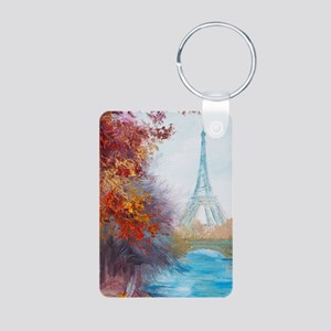 Paris Painting Aluminum Photo Keychain