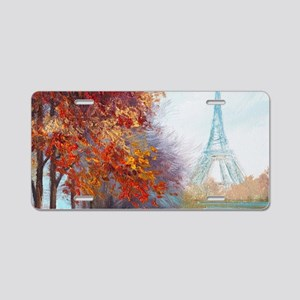 Paris Painting Aluminum License Plate