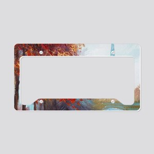 Paris Painting License Plate Holder