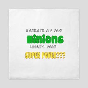 Minion Super Power Queen Duvet