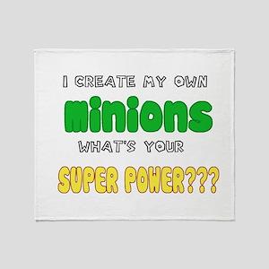 Minion Super Power Throw Blanket