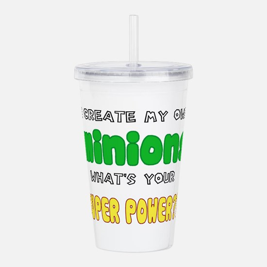 Minion Super Power Acrylic Double-wall Tumbler