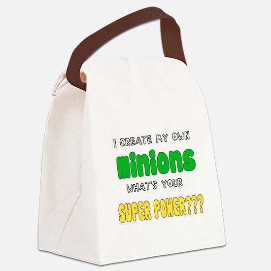 Minion Super Power Canvas Lunch Bag