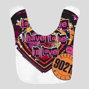 90210 Be in Love Polyester Baby Bib