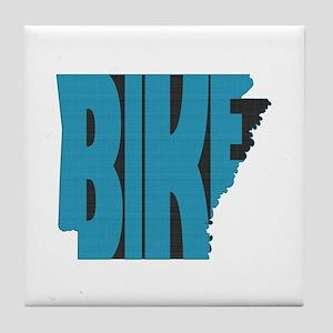 Bike Arkansas Tile Coaster