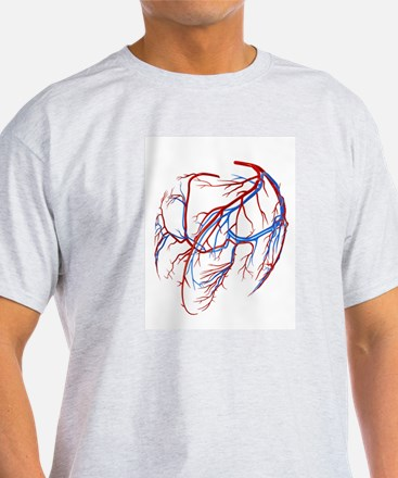 Coronary vessels of the heart T-Shirt