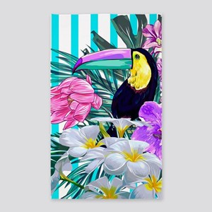 Tropical Toucan Area Rug