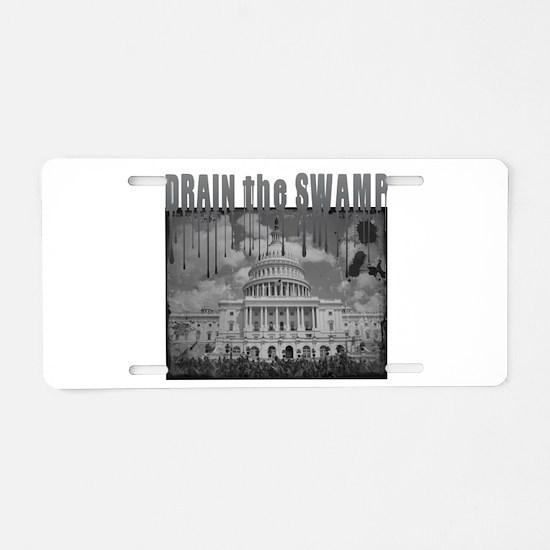 Drain the Swamp Aluminum License Plate