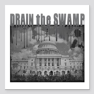 "Drain the Swamp Square Car Magnet 3"" x 3"""