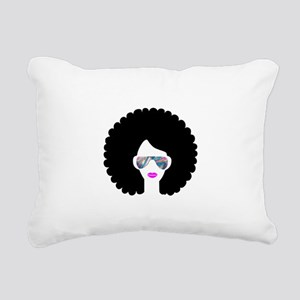 hologram afro girl Rectangular Canvas Pillow
