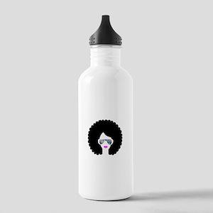 hologram afro girl Stainless Water Bottle 1.0L