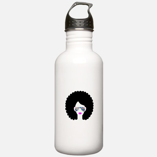 hologram afro girl Water Bottle