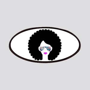 hologram afro girl Patch