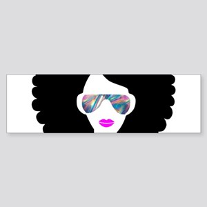 hologram afro girl Bumper Sticker