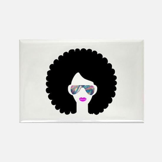 hologram afro girl Magnets