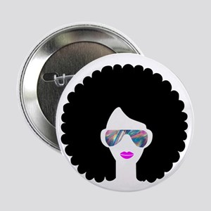"hologram afro girl 2.25"" Button"