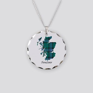 Map-Sinclair hunting Necklace Circle Charm